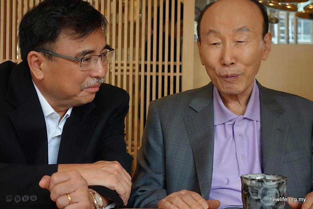 NLRC Pastors had a unique opportunity of a lunch with Dr Yonggi Cho ...
